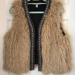 Zara Trafaluc vest with beading size M